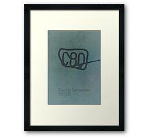 Cecil B. Demented Minimalist Poster Framed Print