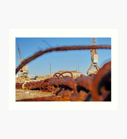 Cockatoo Island - Rust Art Print