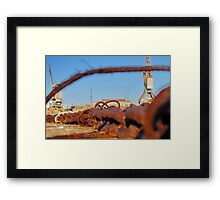 Cockatoo Island - Rust Framed Print