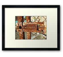 Cockatoo Island - Lock Framed Print