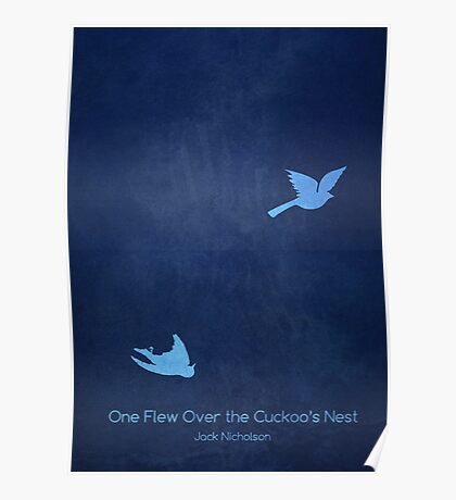 One Flew Over the Cuckoo's Nest Minimalist Poster Poster