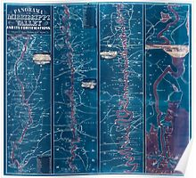 Civil War Maps 1233 Panorama of the Mississippi Valley and its fortifications Inverted Poster