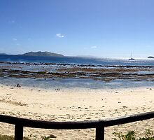 Mana Island Beach by kcikr