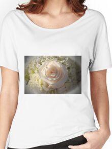 Elegant White Roses Women's Relaxed Fit T-Shirt