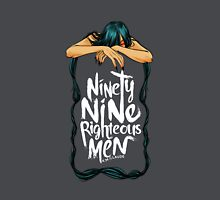 Ninety-Nine Righteous Men Cover (Dark) Women's Fitted V-Neck T-Shirt