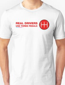 Real Drivers Use Three Pedals T-Shirt