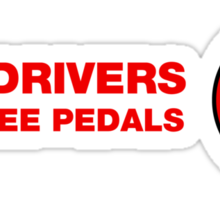 Real Drivers Use Three Pedals Sticker