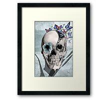 Open minded, unzipping sugar skull  Framed Print