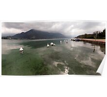 Lake Annecy Panorama Poster