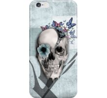 Open minded, unzipping sugar skull  iPhone Case/Skin