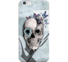Open minded, unzipping sugar skull  iPhone Case/Skin
