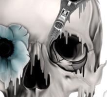 Open minded, unzipping sugar skull  Sticker