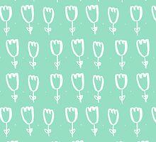 mint tulips by IllustratorBeth