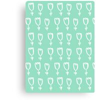 mint tulips Canvas Print
