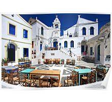 Porta square, Nikeia village, Nisyros island Poster