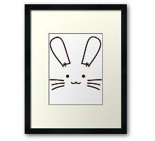 Bunny Face Framed Print