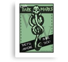 Edible Dark Marks Canvas Print