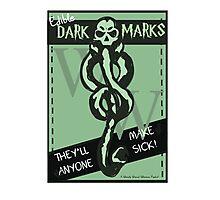Edible Dark Marks Photographic Print