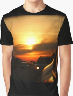 Leaving Sunset Behind Graphic T-Shirt