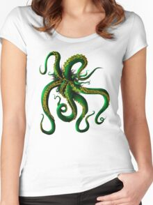 Tentacles Women's Fitted Scoop T-Shirt