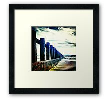 Groyne, Felpham, West Sussex Framed Print