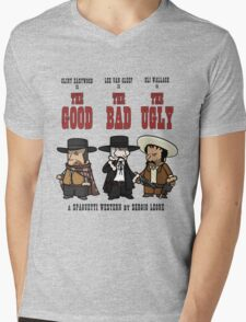 THE GOOD, THE BAD AND THE UGLY Mens V-Neck T-Shirt