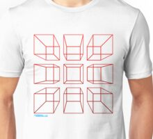 3D Cubes Unisex T-Shirt