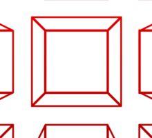 3D Cubes Sticker