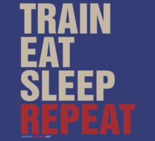 Train Eat Sleep Repeat by CarbonClothing