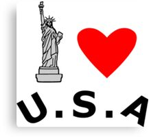 I Heart United States of America Canvas Print
