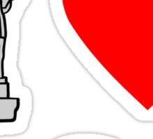 I Heart United States of America Sticker