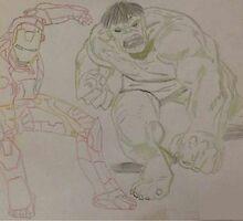The Hulk meets Iron Man by BazaarArlandria