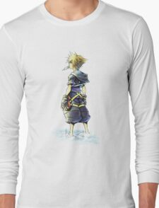 Kingdom Hearts - Sora on beach Long Sleeve T-Shirt