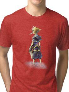 Kingdom Hearts - Sora on beach Tri-blend T-Shirt