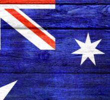 Australia Flag Vintage Wood Sticker