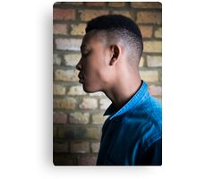 Young male fashion model Canvas Print