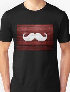 Funny Mustache Vintage Wood T-Shirt