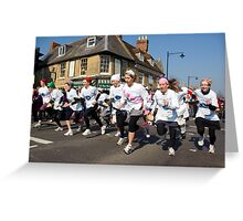 Olney Pancake Race, Buckinghamshire Greeting Card