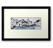 Galway city monochrome Framed Print