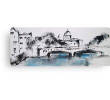 Galway city monochrome Canvas Print