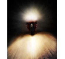Caught In The Headlights - Motorbike Photographic Print