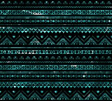 Aztec Black Tinsel Blue by rapplatt