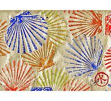 Gyotaku Scallops - Bivalvify - Seafood Melody Photographic Print