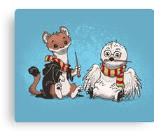 The Owl and the Weasel  Canvas Print