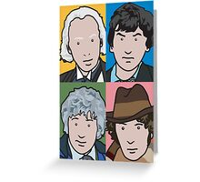 The Doctors 1 to 4 Greeting Card