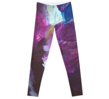 Abstract Painting in mauve and violett 12/18 Leggings