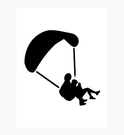Parachute jumping couple tandem Photographic Print