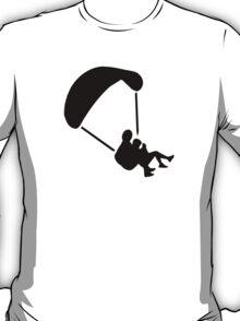 Parachute jumping couple tandem T-Shirt