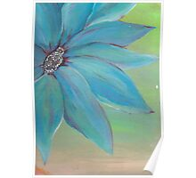 painting of mixed color flower Poster