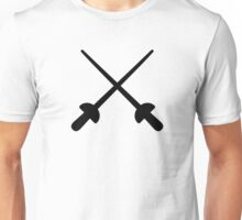 Fencing crossed epee Unisex T-Shirt